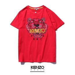 Canada 2019 été marque T-shirt hommes et femmes avec le même type de broderie tigre Odyssey tissu T-shirt à la mode à manches courtes. cheap types embroidery Offre