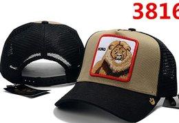 osos bordados Rebajas Diseñador de lujo de alta calidad Unisex al aire libre Tigre lobo oso Animal bordado gorra de béisbol de moda retro golf visera hueso casquette papá sombrero