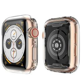 Custodia per Apple Watch 4 con Buit in TPU Pellicola protettiva per lo schermo-Custodie protettive per tutti HD Cover ultra-sottile trasparente per Apple iwatch serie 4 da