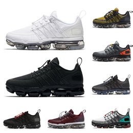8a9ba10306f16 Nike Air Vapormax Run UTILITY VM chaussures de running hommes triple black  Bordeaux Crush designer mens baskets baskets mode sport promotion courir  des ...