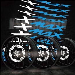 Adesivos decalques de corrida on-line-Moda criativa pneus de corrida logotipo do filme tendência letras decorativas cor da motocicleta adesivos borda interna decalques reflexivos para YAMAHA XMAX