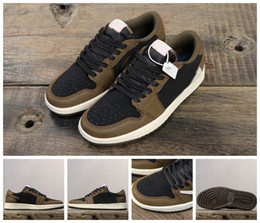 art cactus Coupons - 2019 Designer 1 Low OG TS SP Basketball Shoes Mens Trainers Travis Scotts x 1s Cactus Jack Baskets Man Sneakers Sports des Chaussures