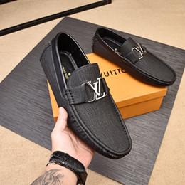 zapatos de ante nubuck para hombre. Rebajas Mocasines de cuero real Mocasines Suede conducción resbalón de alta calidad en lujo de primavera genuino Casual Metal negro diseñador Nubuck zapatos hombres suaves