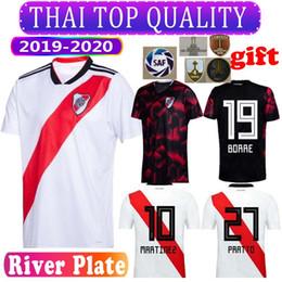 uniformi di calcio in nylon Sconti Conmebol 2019/2020 River Plate maglie calcio bianche MARTINEZ PONZIO SCOCCO CASCO 19/20 River Plate PEREZ FERNANDEZ uniformi fotball nere