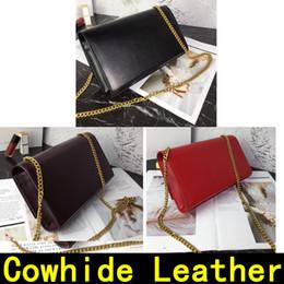 Designer taschen locks online-Designer-Handtasche Rindsleder Gold Silber Kette Goldene Lock Anhänger echtes Leder Designer Handtaschen Schulter-60012