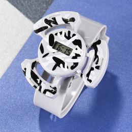 2019 orologio da polso originale OTOKY orologio originale di disegno unico orologio degli uomini Hollow Comporre la cinghia della cinghia di plastica orologio elettronico Maschio Orologi sportivi 19August05