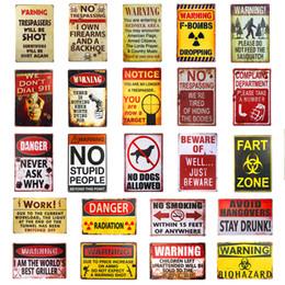 Assiette rustique en Ligne-Coup de semonce FART ZONE Vintage Tin signes d'affiche d'art Plate Garage Rustic Pub Plaque murale Garage Bar Diner Accueil décorations ABOX 2019 Wholesae