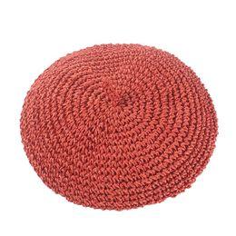 Simple Bérets De Mode Réglable Chapeau De Paille Femmes Chapeau De Paille Femelle Creux Respirant Solide Couleur Printemps Été Peintre Chapeau ? partir de fabricateur