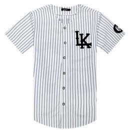 Beyzbol Sıcak Satılan Erkekler T-Shirt Moda Sportwear Hip Hop Jersey Çizgili Gömlek Erkek Giyim Tyga Son Kings Giysileri cheap t shirts men tyga hip hop nereden t shirt erkek tyga hip hop tedarikçiler