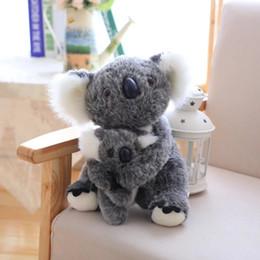 Soft koala giocattolo online-25 cm Australia koala peluche animale koala animale carino farcito bambola morbida mamma tenere bambini koala giocattolo all'ingrosso di alta qualità per i bambini giocattoli