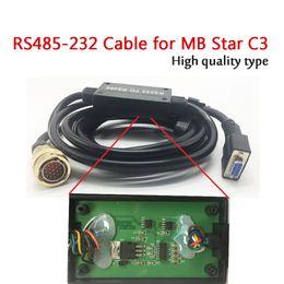 mb star diagnostic scanner Скидка RS232 TO RS485 Для MB Star Соединительный кабель диагностического прибора C3 Star (с печатной платой) Диагностический сканер C3 Кабель RS232