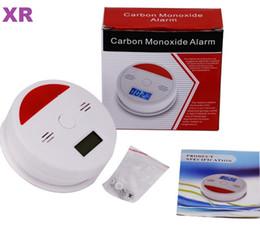 Argentina 30sets alta sensibilidad Mini detector de monóxido de carbono CO Monóxido de Carbono probador del sensor del detector de alarma de advertencia Pantalla LCD alarmas de seguridad Suministro