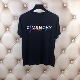 18ss Luxury Europe Paris Ricamo Contrasto Patchwork Tshirt Moda Uomo Designer T Shirt Casual Uomo Abiti T-shirt in cotone da