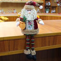 Natal, brinquedo, ornamentos, miúdos on-line-Decoração de Natal Papai Noel Elk Snowman Toy Doll para Início Ornamento caçoa o presente ano novo das decorações