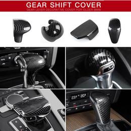 Engranaje s3 online-Audi A3 A4 A5 A6 A7 S3 S6 Q5 Q7 Sline S línea de fibra de carbono de plástico ABS Cutch cambio de engranaje de la cubierta del caso del emblema de la etiqueta engomada