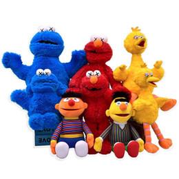 2019 New Sesame Street Poupée Kaws Uniqlo Elmo Poupée En Peluche KAWS Mascotte Cookie Monster Doux En Peluche Jouet Cadeaux ? partir de fabricateur