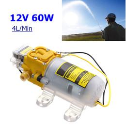 12v pompa acqua portatile Sconti 12V 60W Micro pompa a diaframma elettrico Car Water Pump 4L / min Autoadescante Mini portatile Pressostato alta pressione