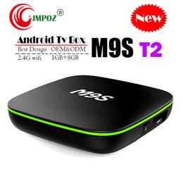 Núcleo t2 online-2019 Quad Core Android TV Box M9S T2 Quad Core 1GB 8GB 2GB 16GB 4K H.265 1080P Transmisión de video H3 IPTV TV Cajas Mejor MXQ PRO TX3 X96 S905W