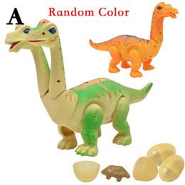 batteriebetriebene dinosaurierspielzeug Rabatt Elektronische Dinosaurier Action Figure Lay Eggs Toys Realistischer Dinosaurier mit Projektionsstimme und leichtem Dinosaurierspielzeug