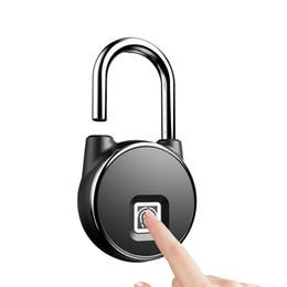 conjunto universal de seleção de bloqueio automático Desconto Intelligence fechamento da impressão digital Cadeado dormitório Cofre Armazém Bloqueio guarda impermeável contra roubo de bagagem em viagem e sacos de bloqueio