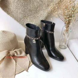 soft leather designer ladies boots Desconto Elegante Cor Sólida Dedo Apontado Senhoras de Couro Macio Fino Salto Alto Designer de Luxo Botas Mulher Moda Sapato