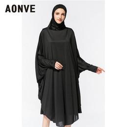 bordados de cauda vermelha bordados Desconto Oração Cabeça Aonve Hijab Abaya Mulheres islâmica corpo cobrindo o Kaftan muçulmano Eid Festival Roupa Femme Formal Robe Musulmane Caftan