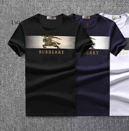 rc quadcopter gopro Desconto 2019 Marca de Design de Verão Desgaste Da Rua Europa Moda Masculina de Alta Qualidade Algodão Camiseta Casual Manga Curta Tee T-shirt ### 998