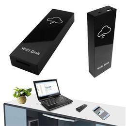 2019 connecteur de mini carte Boîte de stockage pour mémoire WiFi Disk Boîte de stockage Cloud Wi-Fi Lecteur flash pour lecteur de carte Micro SD TF pour partage de fichiers