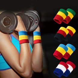 2019 fitbit flex ersatzbänder Elastic Sport Bandage Wristband Support Wristband Schweißabsorbierender Basketball-Handtuchschutz Wrist Weat-Band Fitness Powerlifting