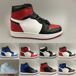db205fe45 New 1 High OG Bred Toe Banned Game Royal Basketball Shoes Men 1s Top 3  Shattered Backboard Shadow Sneakers High Quality Without Box men shoes  without laces ...
