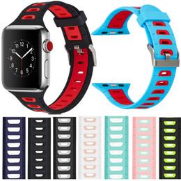 Новый полый дизайн силиконовые спортивные ремни для apple часы 38 мм 42 мм iwatch 2 цвета smart watchbands watch bands для мужчин женщин от Поставщики apple умный смотреть iwatch ремешок