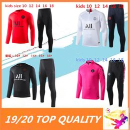 chaqueta de ozil Rebajas KIDS 2019 2020 PSG Mbappé fútbol chándal 19 20 Paris Pogba CAVANI maillot de la chaqueta de pie traje de entrenamiento de fútbol
