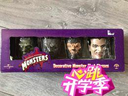 Gläser online-Weingläser Side Show Global Monster Werwolf Vampire Frankenstein Mummy 4tlg
