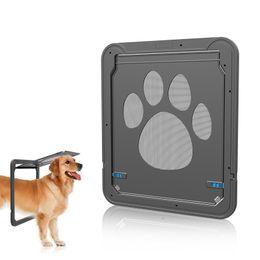 2019 portas de cães Pet tela de tela da porta da janela do cão cat gate filhote de cachorro automático fechadura magnética flap net porta segura porta ljja2336 desconto portas de cães