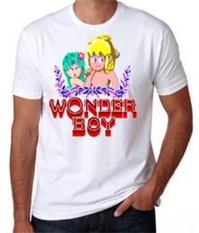 Веселые классические игры онлайн-Горячий Кооп Wonderboy ретро 80 S Arcade Machine Классической игры Приключение Fun Wit Geek T-SHIRT Футболка Ньив Мерк тройники