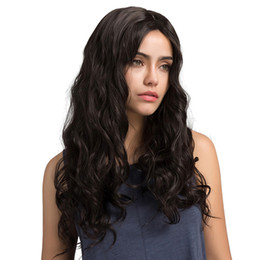 natural wavy hair styles Coupons - Top Quality Big Wave Natural Color Full Front Lace Wig Long Style Wavy Brazilian Malaysian Peruvian Hair 130 150 180% Density Swiss Lace