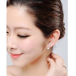 Orecchini coreani ipoallergenici online-orecchini sfera di cristallo d'argento gioielli orecchio di fascia alta coreano Shambhala palla ipoallergenico moda orecchini gioielli vendita calda 170165