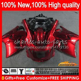 kit de carreras gsxr Rebajas Cuerpo para Kawasaki ZZR1100 ZX11R ZZR 1100 CC ZX11 R 30HC.102 llamas rojas ZZR1100 ZX11 R ZX 11R ZX11R 90 91 92 1,990 1,991 1,992 carenado kit