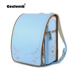 студенческие сумки япония Скидка Coulomb Children School Bag For Girls Kid Orthopedic Backpack For School Students Bookbags Japan PU Randoseru Bags 2019 New