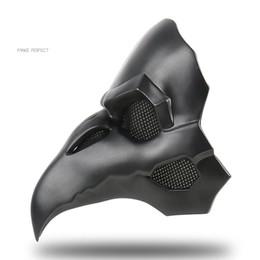 Masque de corbeau en Ligne-Refroidir OW PVC Type Punk Masque Crow Reaper Nevermore Peau Noir Masques Reaper Peste Docteur Masque Oiseaux À Long Nez Punk Crow Rétro Rock