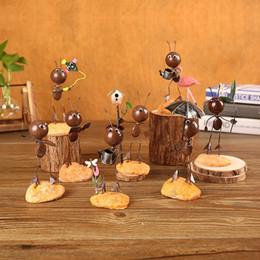 Canada Rétro style industriel Fer résine mignonne pendule fourmi tchotchkes fourmi fer artisanat en étain belle décoration de la maison meuble de télévision décoration de table Offre