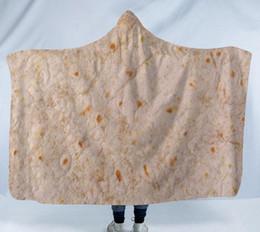 Nuova coperta con cappuccio messicano coperta di aria condizionata asciugamano tortilla coperta 3D rotolo di stampa in poliestere microfibra casa pancake coperte SN2554 da rotoli microfibra asciugamano fornitori