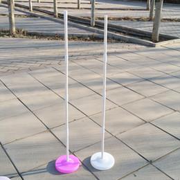Садовые палочки онлайн-150 см воздушный шар колонка база / палка / пластиковые полюса воздушный шар арка свадебные украшения событие партия поставки украшения сада