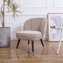 Sedie ufficio sedie online-Velvet in tessuto Poltrona imbottita in accento sedia moderna pranzo Salone Salone Office Home divano reclinabile Sedia classica