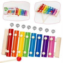 sticks musical instruments Promo Codes - New Colorful Children's Musical Instruments Cute Kid Baby Xylophone Educational Developmental Wooden Toys