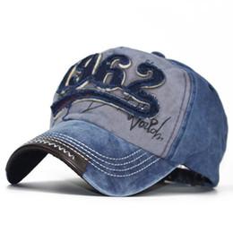 2019 casquette de baseball en jean pour hommes Mode Jean Snapback Hat Cap Unisexe Chaud Rétro Détresse Cristal Bleu Denim Hommes Femmes Casquette De Baseball casquette de baseball en jean pour hommes pas cher