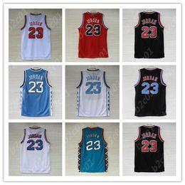 Tacchi di catrame online-maglia da uomo T-shirt NCAA North Carolina Tar Heels 23 Michael Jersey Space Jam Tune Squad Pullover da basket S-XXL