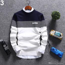 Automne Hiver Mode Nouveaux Hommes Pull Coton À Manches Longues O Cou Rouge Pull Bleu Taille M-2XL ? partir de fabricateur