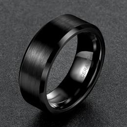Toca no casamento on-line-Promessa Somen 8mm Homens Preto Anel De Cerâmica Escovado Banda de Casamento Amor Anéis De Noivado Da Moda Homens Jóias Gilft Bague Homme