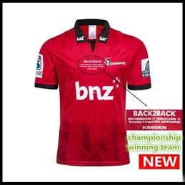 2019 ganhar casa Campeonato dos cruzados equipe vencedora 2018 Nova Zelândia Super Rugby Camisas Crusaders home jersey 18 19 Crusaders Camisas S-3XL ganhar casa barato